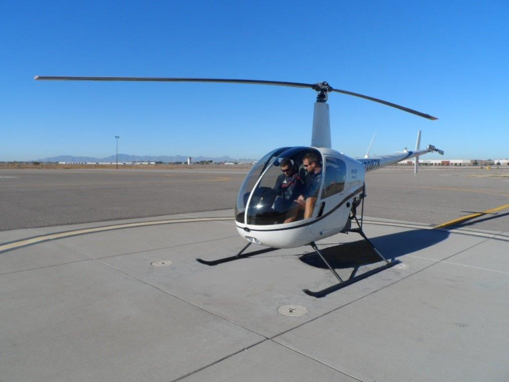 Introductory helicopter training flight, intro prep