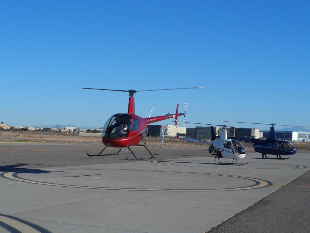 Introductory helicopter training flight, first hover